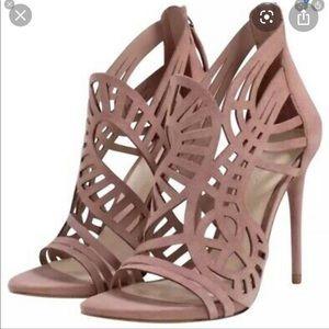 Zara suede purple heels
